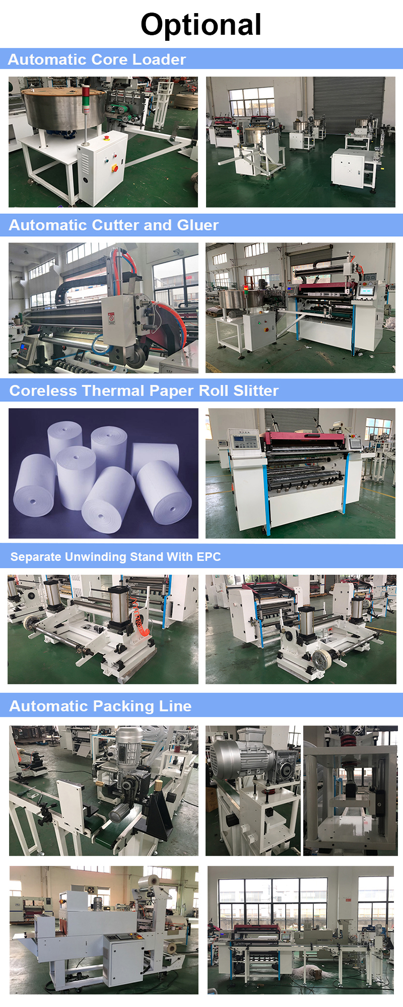 Automatic Thermal POS Paper Roll Slitter Cutter Blade Machine