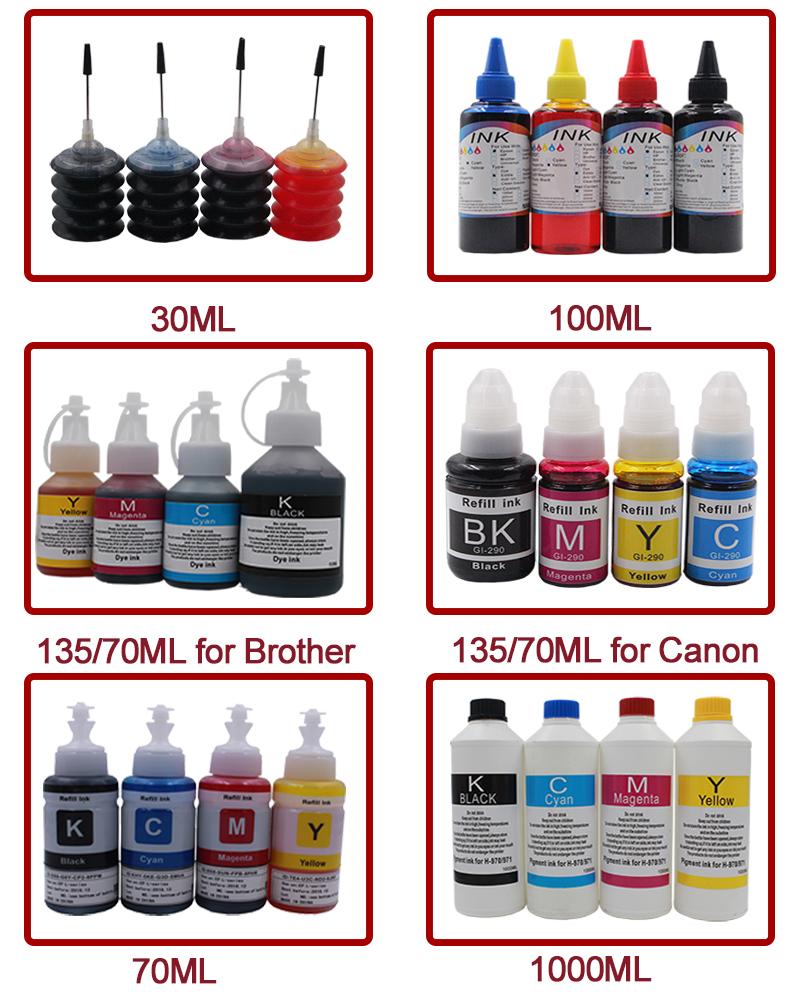 370XL 371XL cartuccia di inchiostro della ricarica di inchiostro per PIXUS TS5030 TS5030S MG7730 premio della tintura di inchiostro della stampante 4/6 di colore