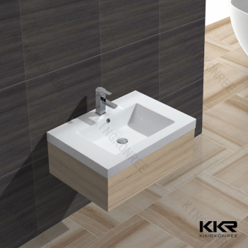 Solid Surface Wash Basin With Cabinet Design For Dining Room