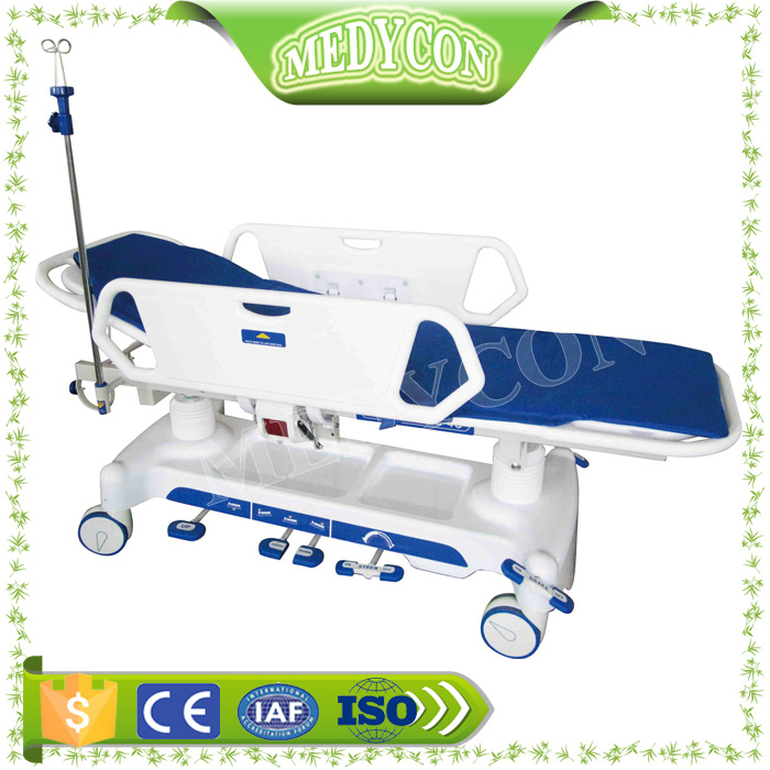 Hot sale Hydraulic Rise And Fall Handicapped Patient Transfer Trolley