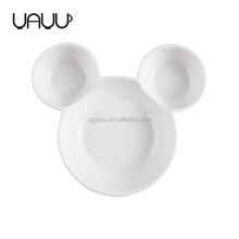 Online wholesale mickey shape nuts&candy serving , bulk and cheap ceramic dessert plate