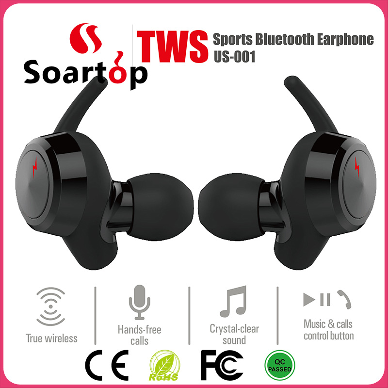 2017 New Unique Design MEMS Microphone Bluetooth V4.2 Pair Sports Earbuds With WT-200T/CSR 63120 Chipset for Good Sound Quality