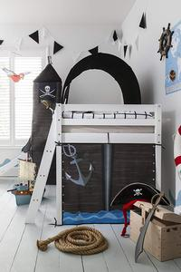 700173969239 Loft Bed With Slide And Tent