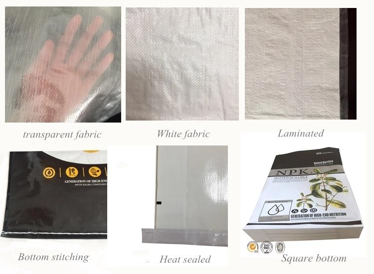 Factory customized 25kg white plastic pp woven chemical resistances bag for powder,fertilizer,sugar,flour,cement,grain 50kg