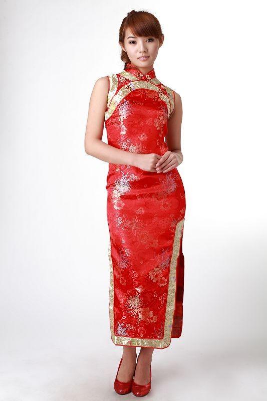 Vestidos Chinos Cuello Mao