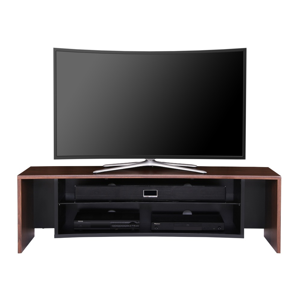fitueyes cured tv stand wooden grain media entertainment center for 32 65 inch oled tvs led lcd. Black Bedroom Furniture Sets. Home Design Ideas