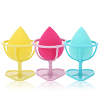 Lameila high quality cosmetic sponge applicator water drop egg foundation blender makeup sponge with holder