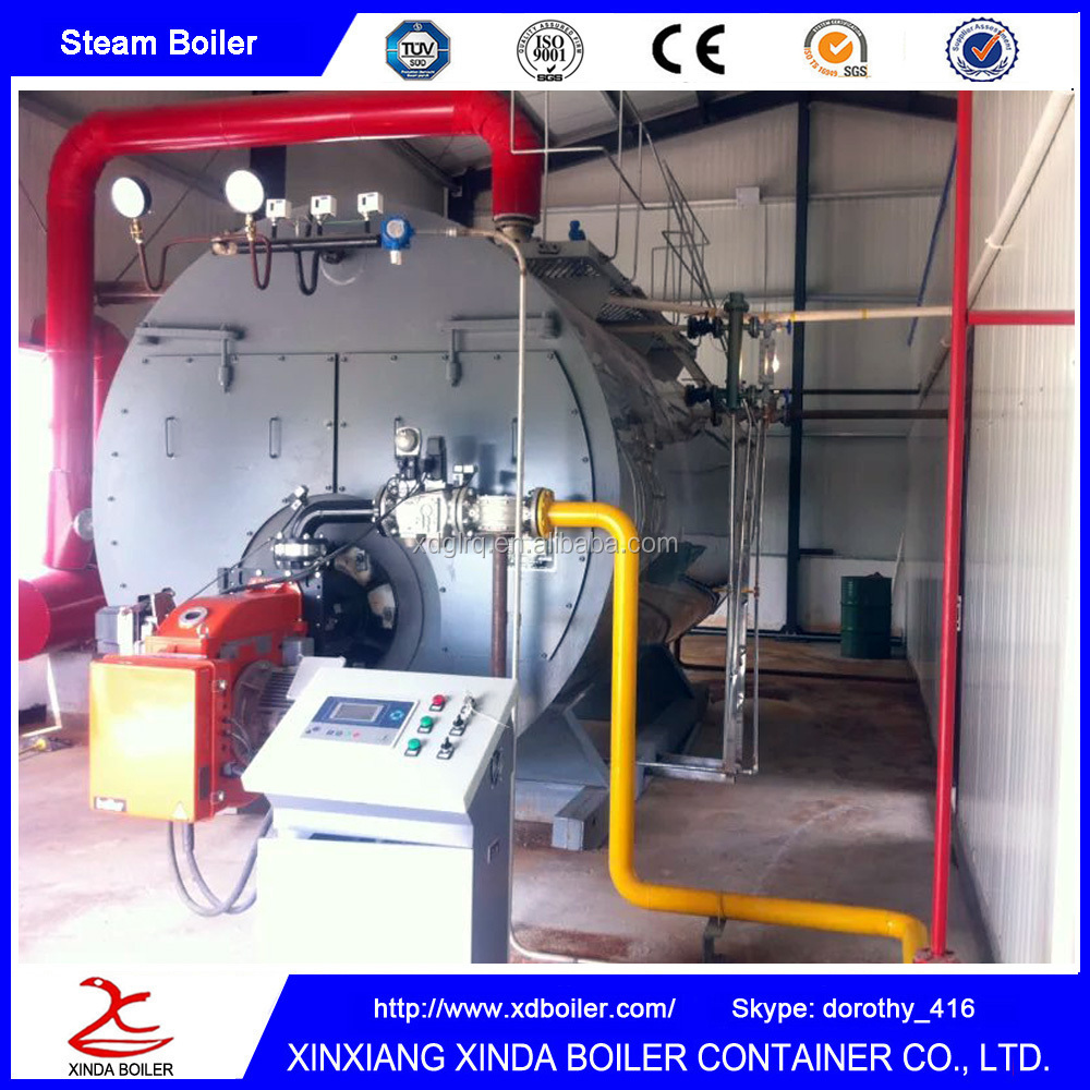 New Design 2000Kg Oil Gas Fired Steam Boiler Heating System