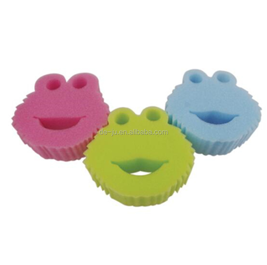 Frog Head Bath Sponges For Kids - Buy Bath Sponges For Kids,Cleaning ...