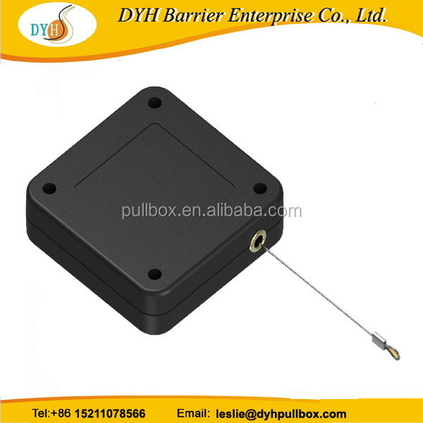 retractable security cable for watches/security pull box recoiler