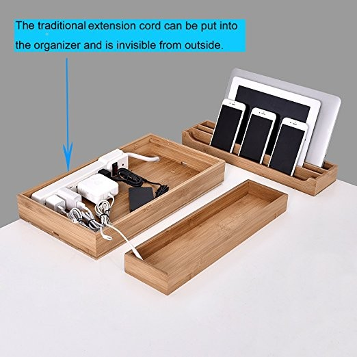 Multiple Use Wooden Phone Holder For Mobile Phone Bamboo