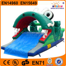 Hot sale wholesale dragon inflatable floating pool slide