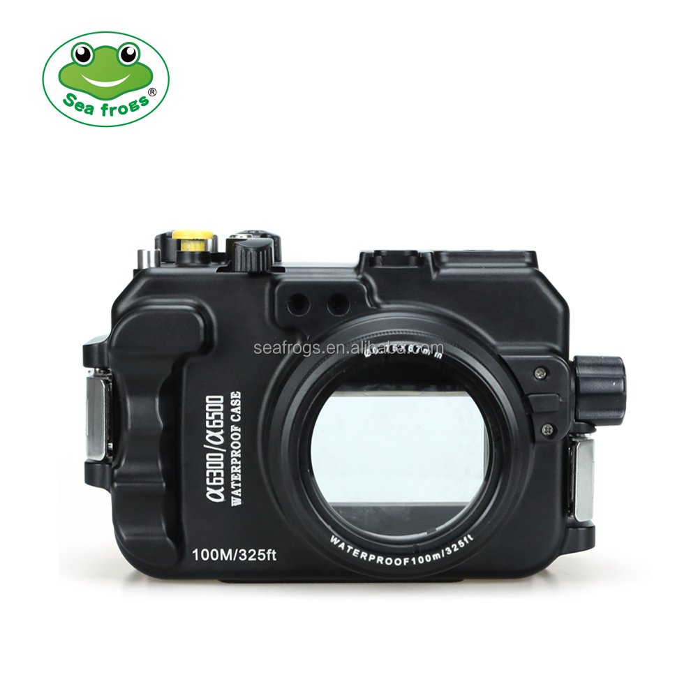 Seafrogs Newest 100m/325ft Underwater Camera Waterproof Aluminum Housing case for Sony A6300 A6500