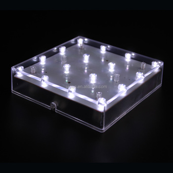 Led Base Light For Vase 5 Inch Led Square Vase Base Light For