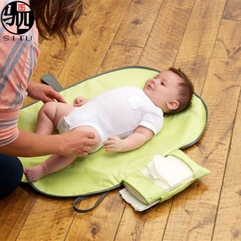 Waterproof Baby Diaper Changing Pad with Cushioned Changing Mat and wipes Portable and Easy Folding Changing Mat