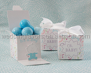 """Oh, Baby!"" Gender Reveal Favor Box"