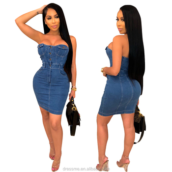 MST950 2019 high fashion high quality women plus casual denim jeans dress