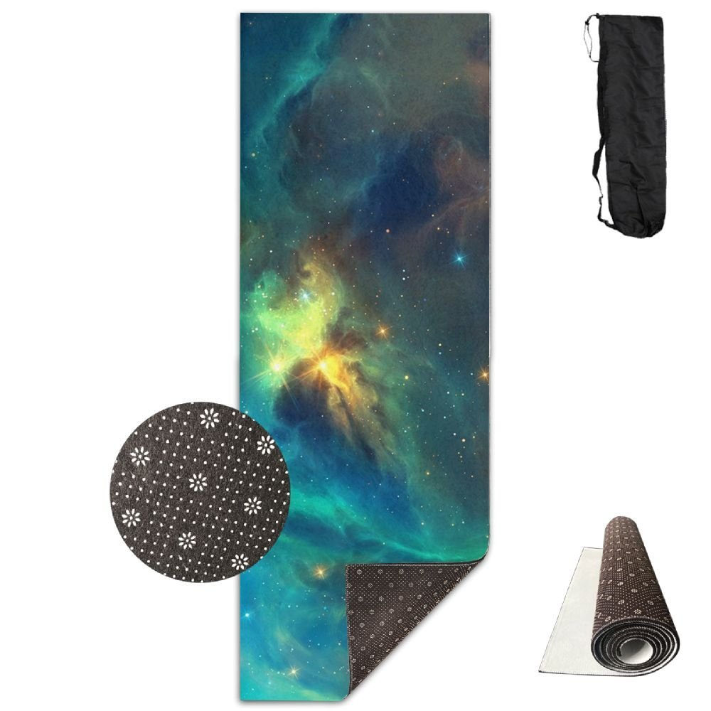 Fitness All Over Printed Yoga Mat JOYLIAN Fashion Space Nebula Stars Exercise Mat For Yoga Workout Fitness 180x61cm