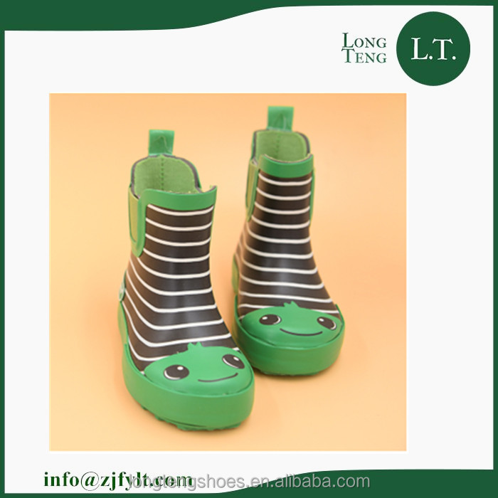 New style kids warm shoes rubber rain boots