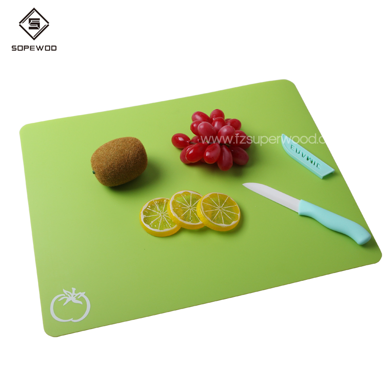 Hot sale  4 Pieces Colour Extra Thick Flexible  Plastic Chopping Cutting Board