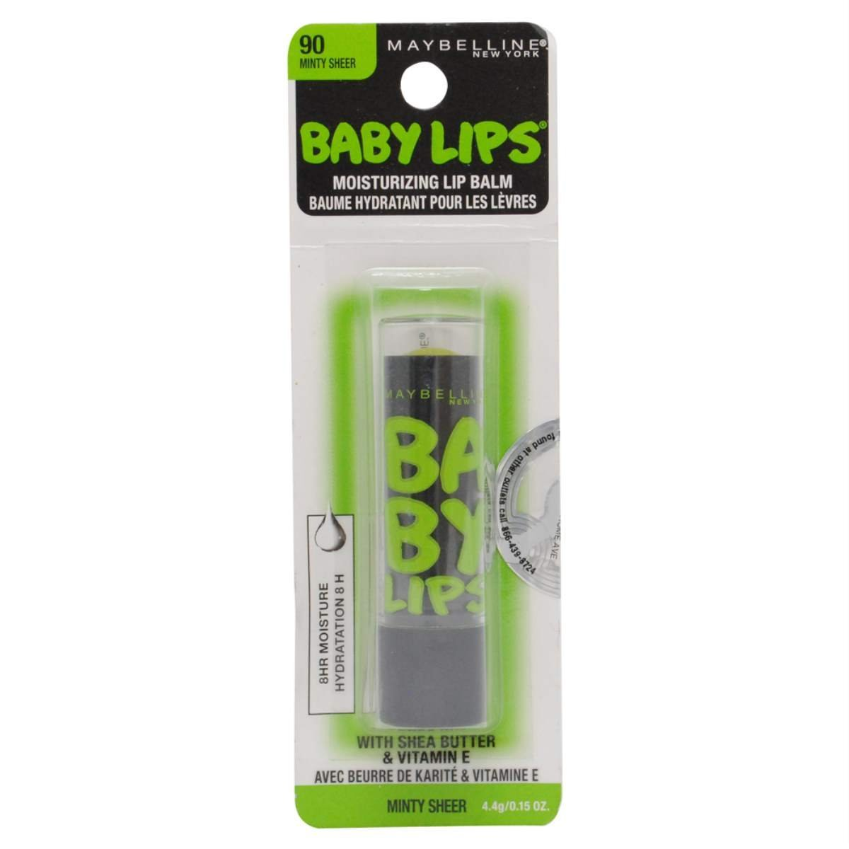 Maybelline New York Baby Lips Balm Electro, Minty Sheer, 0.15 Ounce (Pack of 2)