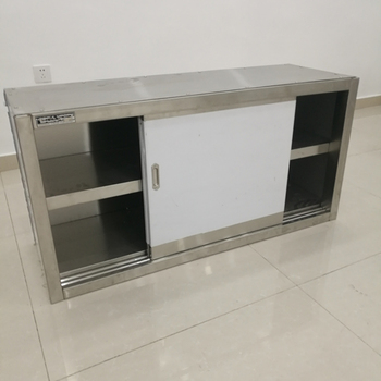 Commercial Kitchen Equipment Stainless Steel Wall Hanging Cabinet With Sliding Door