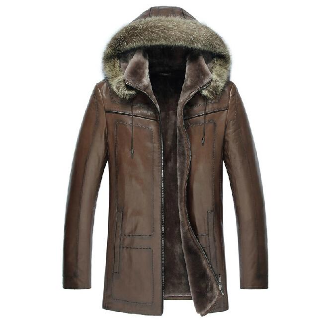 7d9e20ab5445 Cheap Mens Coat With Fur Hood