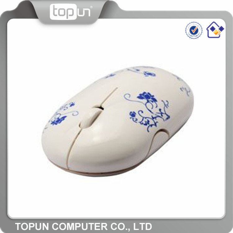 Wholesale computer spares cheap printed USB 2.4Ghz custom fancy tablet pc wireless mouse