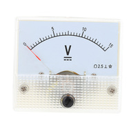 DC 0-15V Mini Portable Analog Volt Meter Voltmeter Voltage Panel Meter Tester For Experiment Or Home Use Voltimetro