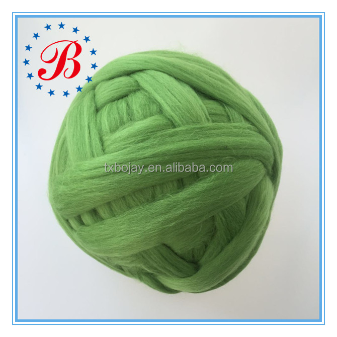 100% Pure Merino Wool Roving Yarn Super Chunky for Hand knitting blankets, scarves, hats