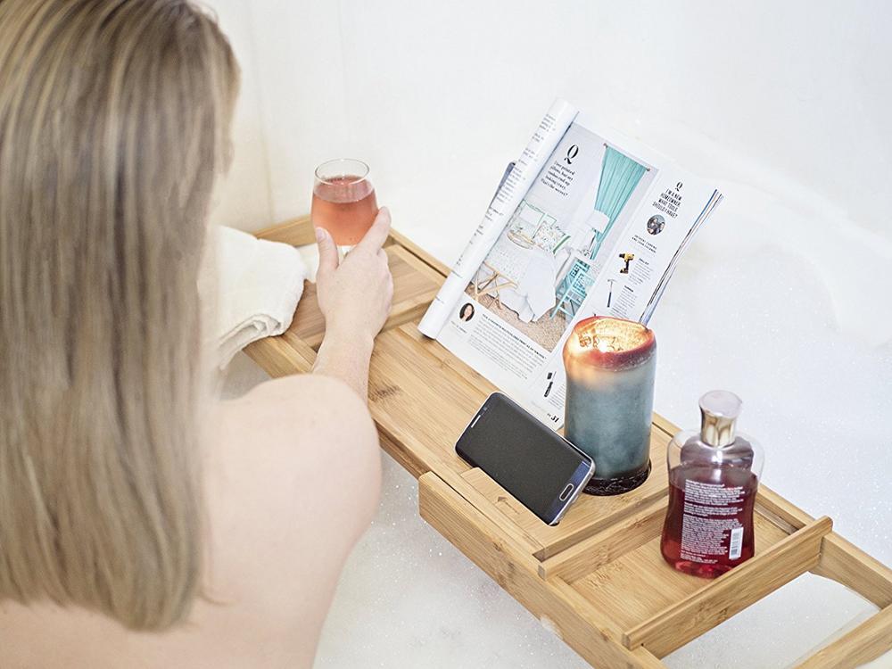organic-bamboo-bathtub-caddy-tray-for-multifunctional