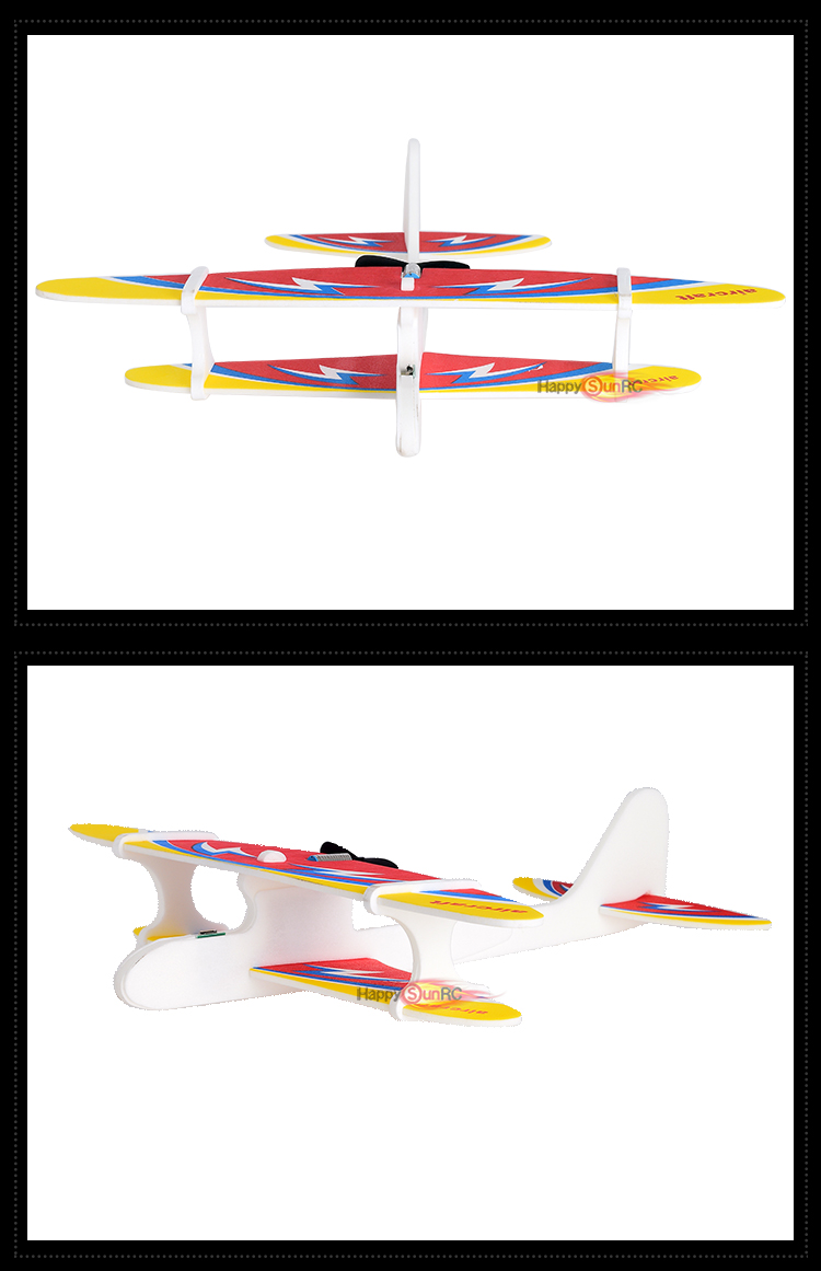 Freeshipping electric fly aircraft biplane kids DIY small rtf eva model hand throw bo epp foam glider airplane toys for children