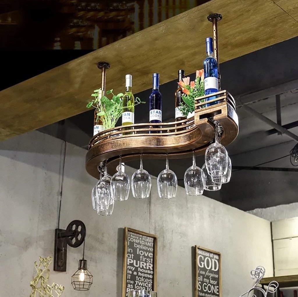 Stemware Racks Wine Rack 、 Wine Glass Rack Bar Wall Racks、、Wine Glass Rack, Shelf Wine Glass Holder,Wine glass rack, Wine Glass Rack, Champagne Glass Rack,Glassware Rack (Size : 80cm)