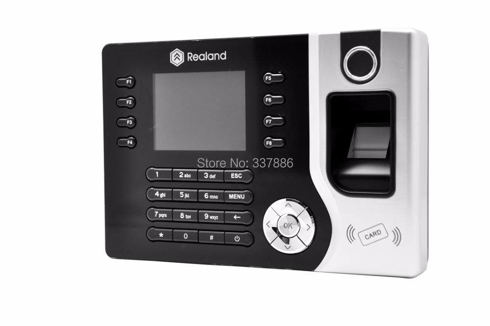Mutil-language Fingerprint/RFID Card (125Khz,EM4100)/Password biometric time attendance system with TCP/IP &USB