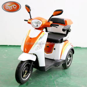 2017 EEC handicapped or old people adult used electric tricycle 2 wheel motorcycle scooter