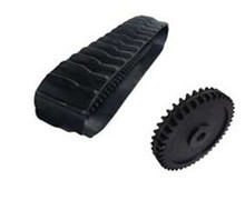 Large Robot Rubber Tracks Kit With Drive Sprockets and Bogie Wheels