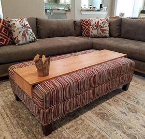 Wood ottoman table tray drink tray table for couch sofa or ottoman balancing