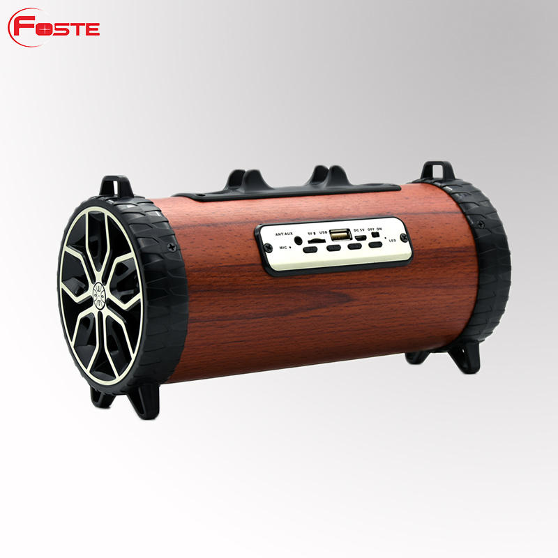 Wooden Wireless Bluetooth Speaker 2000Mah Li-Battery 4-5Hours Playing Time Jc Chipset In Shenzhen China