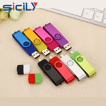 High Quality Dual USB Flash Drive custom oem logo OTG Pen Driver for promotional gifts
