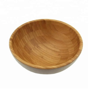 High quality cheap bamboo wooden salad bowl