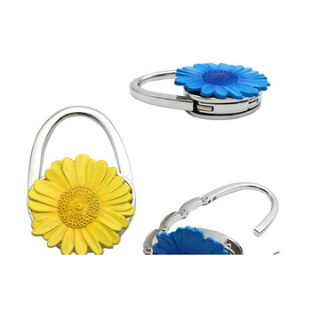 cheap price alloy metal Handbag Holder Shell Bag Folding Table decor flower  Metal Foldable Bag Purse d96d642c29ded