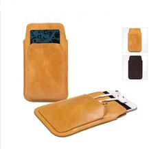 Boshiho smartphone pouch leather pouch genuine leather for iphone 6 pouch