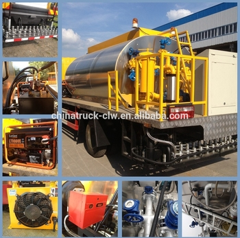 sinotruck golden prince 160hp 4cbm to 8 cbm bitumen sprayer truck for hot sale, heated bitumen truck, asphalt truck