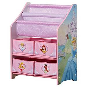Delta Children Sturdy and Durable Disney Princess Book & Toy Organizer, Non-toxic and Safe for Children