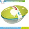 Kitchen Vegetable Fruit Plastic Salad Bowl With Lid