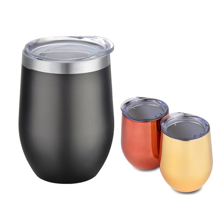 Hochwertiger Pulverlack-Lackiergriff Vakuum-Kaffeetasse mit Deckel, Becher mit 18 Unzen Becher