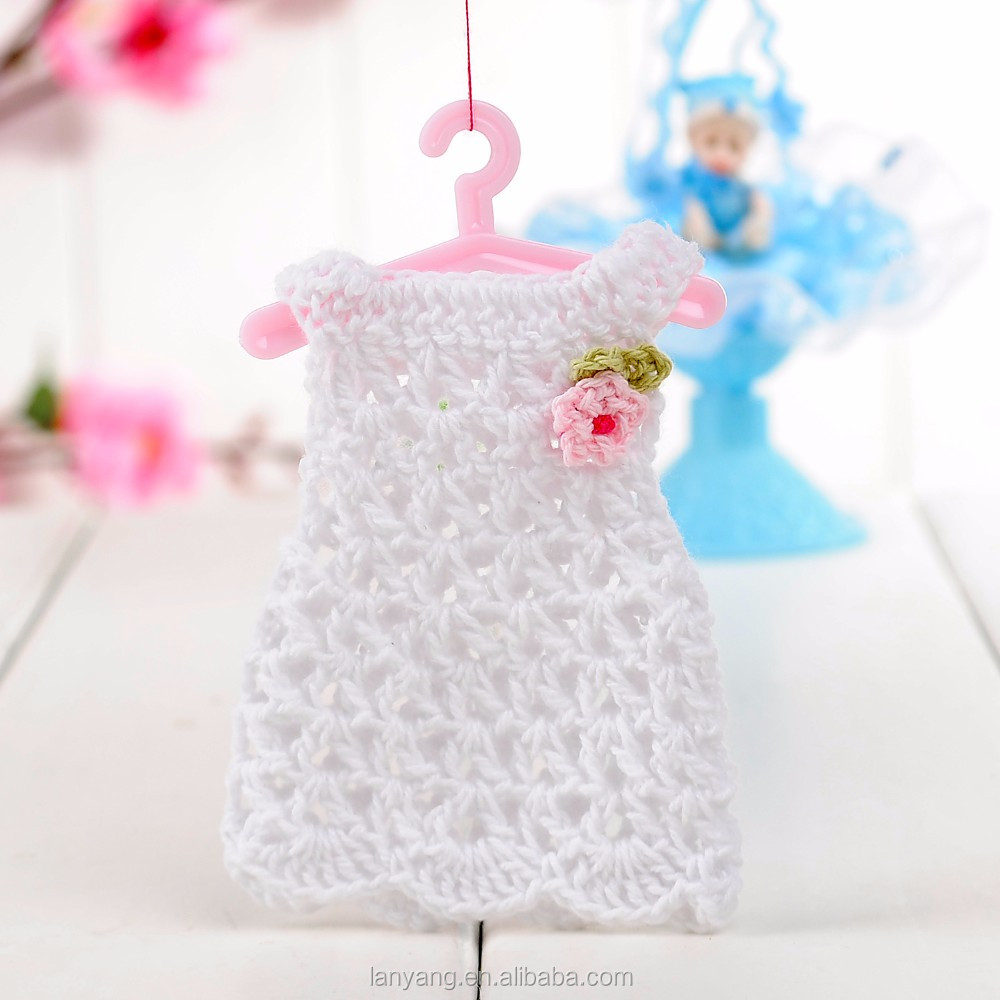 Miniatur Häkeln Pullover Kleid Baby Shower Favors Taufe Mädchen ...