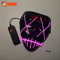 Scary Bar Night Fluorescent Mask Led Light Purge Mask New Halloween Party Mask Hip Hop Accessories Festival Rave Led Carnival