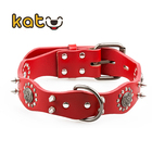 Genuine Cow Leather Dog Collar for Big Dogs Pet Necklace Personalized Top Quality