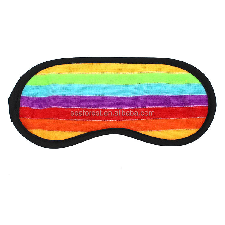 Cheap Wholesale Rainbow Fabric Eye Patch/Relaxed Sleeping Eyeshade/Personzlied Rainbow Blinder
